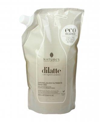 Sapone Liquido Nutriente Mani e Viso - Dilatte Eco-Ricarica (400 ml)