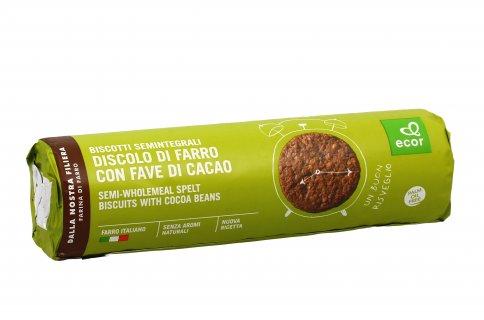 """Biscotto """"Discolo"""" al Farro con Fiocchi d'Avena e Fave di Cacao"""