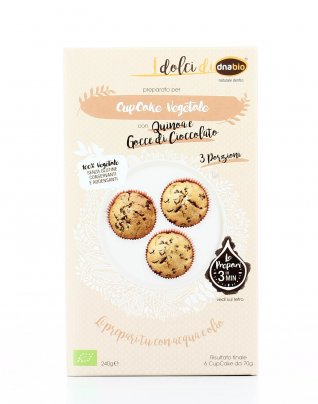 Cupcake Vegetale con Quinoa e Gocce di Cioccolato