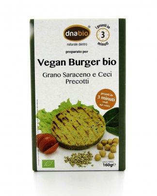 Vegan Burger Bio - Grano Saraceno, Ceci e Semi di Sesamo