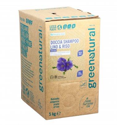 Doccia Shampoo Lino e Riso Delicato - Eco Box Sfuso