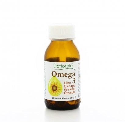 Integratore Alimentare - Omega 3 Bio con Lino, Canapa, Sesamo e Girasole