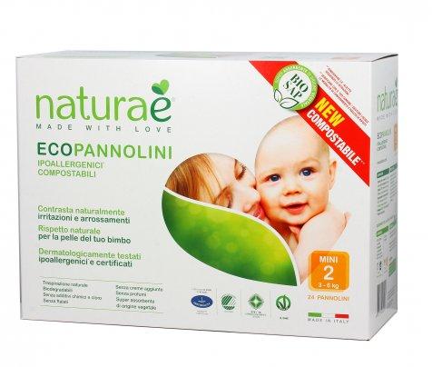 Pannolini Ecologici - EcoPannolini Mini 2 (3- 6 Kg) - 24Pz
