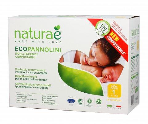 Pannolini Ecologici - EcoPannolini New Born 1 (2- 5 Kg) - 26 Pz