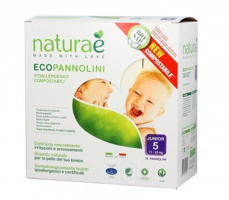 Pannolini Ecologici - EcoPannolini Junior 5 (11-25 Kg) - 18Pz