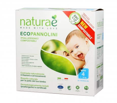 Pannolini Ecologici - EcoPannolini Maxi 4 (7-18 Kg) - 20Pz