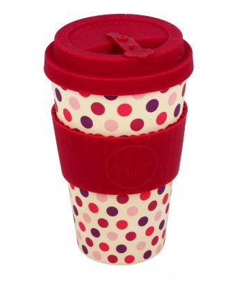 Ecotazza in Bambù - Ecoffee Cup Pink Polka