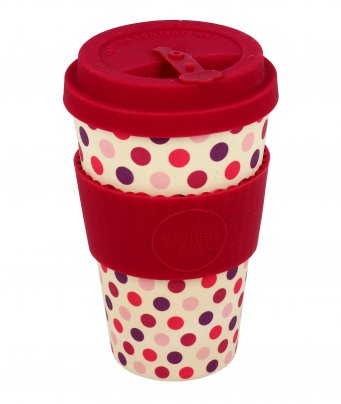 Ecotazza in Bambù - Ecoffee Cup Pink Polka