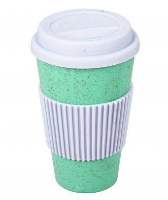 Bio Tazza Biodegradabile con Tappo Silicone Tiffany