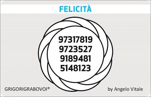 Tessera Radionica 75 - Felicità