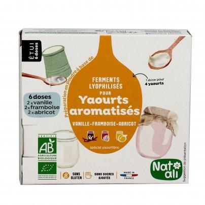 Fermenti Attivi per Yogurt Aromatizzati (Vaniglia, Lampone e Albicocca)
