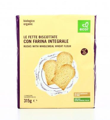 Fette Biscottate Bio con Farina Integrale