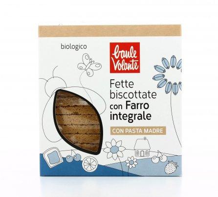 Fette Biscottate di Farro Integrale Bio