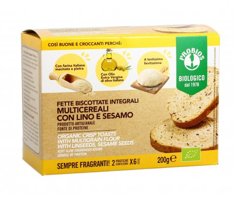 Fette Biscottate Integrali Multicereali con Lino e Sesamo