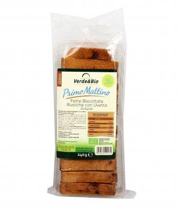 Fette Biscottate Rustiche con Uvetta Bio