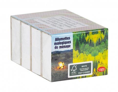 Fiammiferi in Legno di Pioppo per uso Domestico - 4 Scatole da 100 Fiammiferi