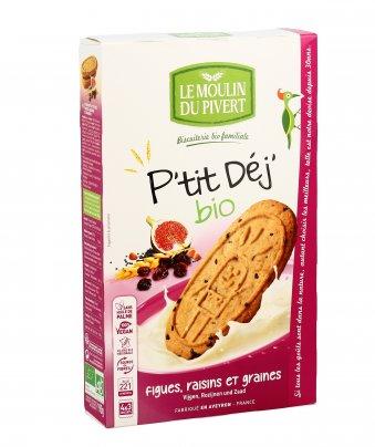 Biscotti ai Cereali con Fichi, Ribes e Semi - P'tit Déj'