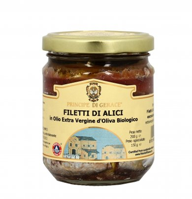 Filetti di Alici in Olio Extra Vergine di Oliva 200 g (150 g sgocciolato)