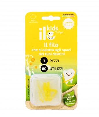 Filo Interdentale per Bambini - ILo Kids Limone