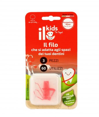 Filo Interdentale per Bambini - ILo Kids Pompelmo