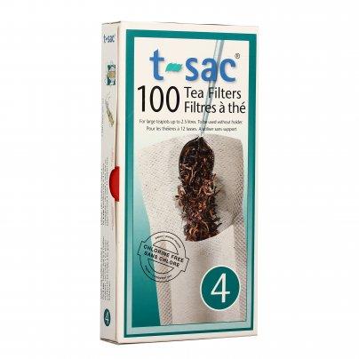 Filtri Carta per Infusi e Tè Sfusi 100 filtri (Taglia 4) - per teiera