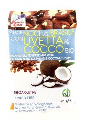 Snack di Noci del Brasile con Uvetta e Cocco Bio