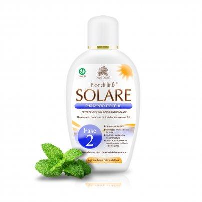 Fior di Linfa Solare Fase 2 - Shampoo Doccia con Fiori d'Arancio e Mentolo 200 ml