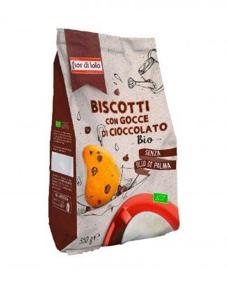 Biscotti con Gocce di Cioccolato Bio Senza Olio di Palma