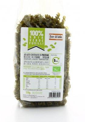 100% Soia - Fusilli di Soia Verde Bio