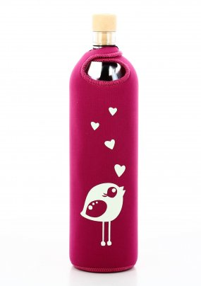 Bottiglia Vetro Programmato Neo Design Birdy 750 ml