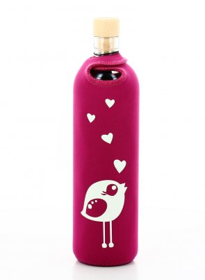 Bottiglia Vetro Programmato Neo Design Birdy 500 ml