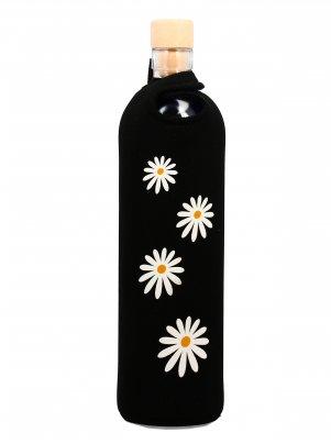 Bottiglia Vetro Programmato Neo Design Daisies 500 ml