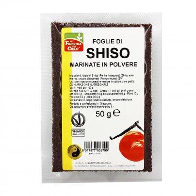 Foglie di Shiso Marinate in Polvere