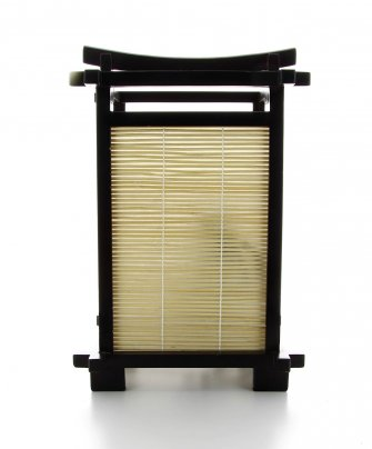 Lampada Giapponese - Nara Walnut Bamboo 20x20x31 cm