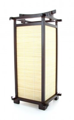 Lampada Giapponese - Nara Walnut Bamboo 20x20x45 cm