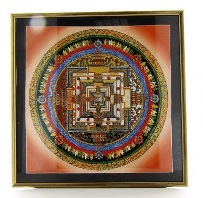 Quandro con Mandala Tibetani - 35x35 cm.