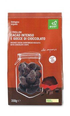 Biscotti - Frollini di Cacao Intenso e Gocce di Cioccolato