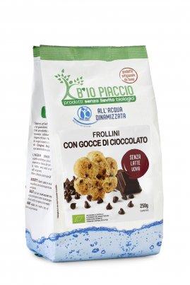 Biscotti Frollini con Gocce di Cioccolato Bio