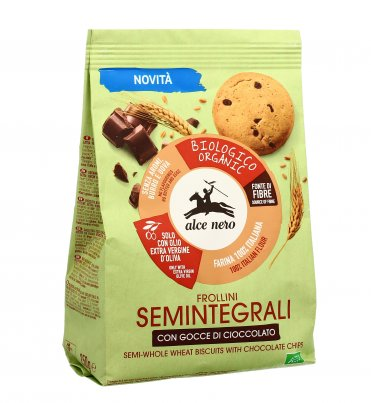 Frollini Biscotti Semintegrali con Gocce di Cioccolato Bio