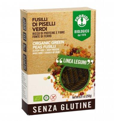Fusilli Pasta di Piselli Verdi Bio - Senza Glutine