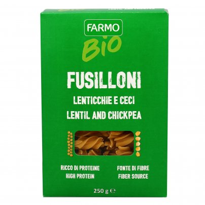 Pasta Fusilloni Lenticchie e Ceci Senza Glutine