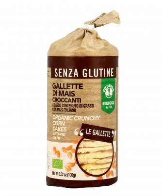 Gallette di Mais Croccanti Biologiche - Senza Glutine