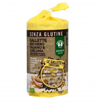 Gallette Riso Nero Italiano e Curcuma - Senza Glutine