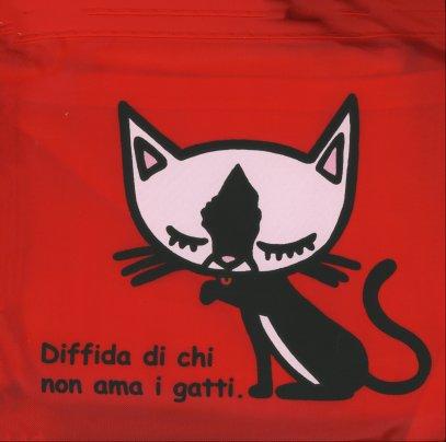 Borsa Pieghevole Rossa - Gatto