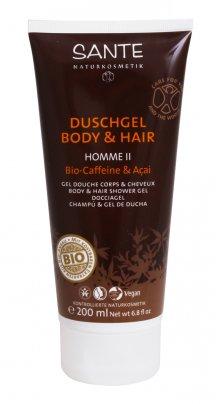 Gel Doccia Corpo e Capelli Bio Caffeina e Acai - Duschgel Body & Hair