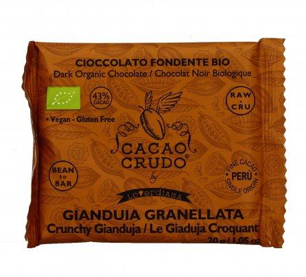 Tavoletta di Cioccolato Fondente Gianduia Granellata
