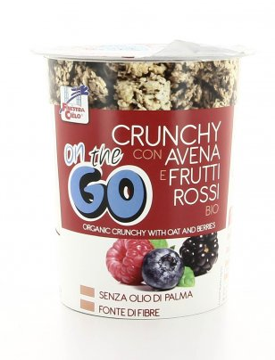 Crunchy con Avena e Frutti Rossi Bio - On the Go