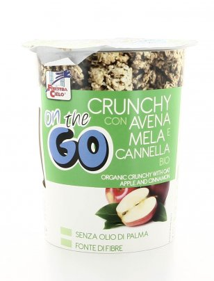 Crunchy con Avena e Mela Cannella Bio - On the Go