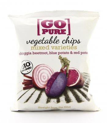 Chips di Barbabietola di Chioggia, Patata Blu e Patata Rossa