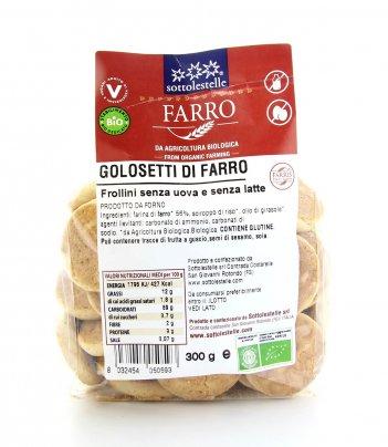 Biscotti - Frollini di Farro - Golosetti Bio